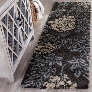 Safavieh Ultimate Smoke/ Dark Brown Shag Rug (8' x 10')