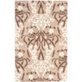 Ultimate Beige/Cream Shag Area Rug (4' x 6')