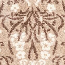 Safavieh Ultimate Beige/Cream Shag Area Rug (5'3 x 7'6)