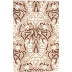 Safavieh Ultimate Beige/Cream Shag Area Rug (8' x 10')