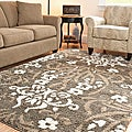 "Ultimate Smoke/Beige Shag Area Rug (5'3"" x 7'6"")"