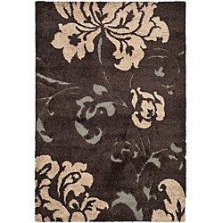 Safavieh Ultimate Dark Brown/ Beige Shag Rug (4' x 6')