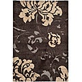 Ultimate Dark Brown/ Beige Shag Rug (4' x 6')