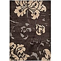 Ultimate Dark Brown/ Beige Shag Rug (5'3 x 7'6)