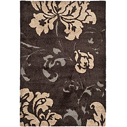 Ultimate Dark Brown/ Beige Shag Rug (8' x 10')