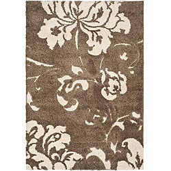 Ultimate Smoke/ Beige Shag Rug (4' x 6')