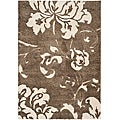 Ultimate Smoke/ Beige Shag Rug (5'3 x 7'6)
