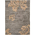 Ultimate Dark Gray/Beige Polypropylene Shag Rug (4' x 6')