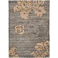 Safavieh Ultimate Dark Grey/Beige Floral Shag Rug (8' x 10')