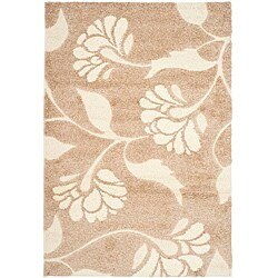 Safavieh Ultimate Beige/ Cream Shag Rug (8' x 10')