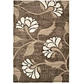 "Ultimate Smoke/Beige Polypropylene Shag Rug (5'3"" x 7'6"")"