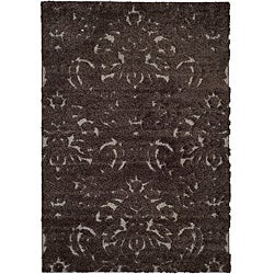 Safavieh Ultimate Dark Brown/Smoke Plush Shag Rug (4' x 6')