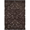 Ultimate Dark Brown/Smoke Shag Area Rug (5'3 x 7'6)