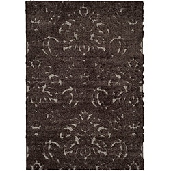 Safavieh Ultimate Dark Brown/Smoke Casual Shag Rug (8' x 10')
