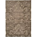 Ultimate Smoke/Beige Shag Area Rug (4' x 6')