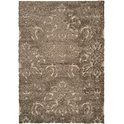 "Ultimate Smoke/Beige Cotton-Canvas Shag Rug (5'3"" x 7'6"")"