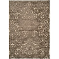 "Ultimate Smoke/Beige Cotton-Canvas Shag Rug (5'3"" x 7'6"")"