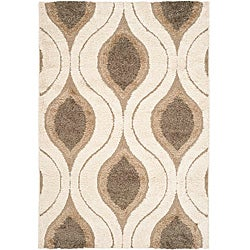 Safavieh Ultimate Cream/ Smoke Shag Rug (5'3 x 7'6)