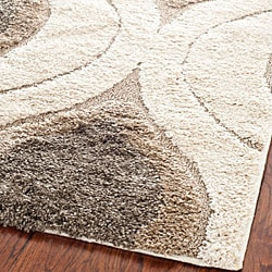 Safavieh Ultimate Cream/ Smoke Shag Rug (8' x 10')