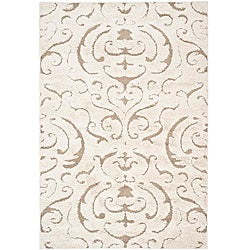 Ultimate Cream/ Beige Shag Rug (4' x 6')