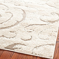 Ultimate Cream/ Beige Shag Rug (5'3 x 7'6)
