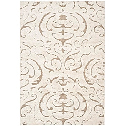 Safavieh Ultimate Cream/ Beige Shag Rug (8' x 10')