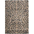 "Ultimate Dark Gray Polypropylene Shag Area Rug (5'3"" x 7'6"")"