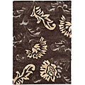 Ultimate Dark Brown/ Smoke Shag Rug (5'3 x 7'6)