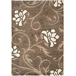 Safavieh Ultimate Smoke/ Beige Shag Area Rug (4' x 6')