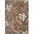 Ultimate Smoke/ Beige Shag Area Rug (4' x 6')