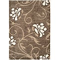 "Ultimate Casual Smoke/Beige Shag Rug (5'3"" x 7'6"")"