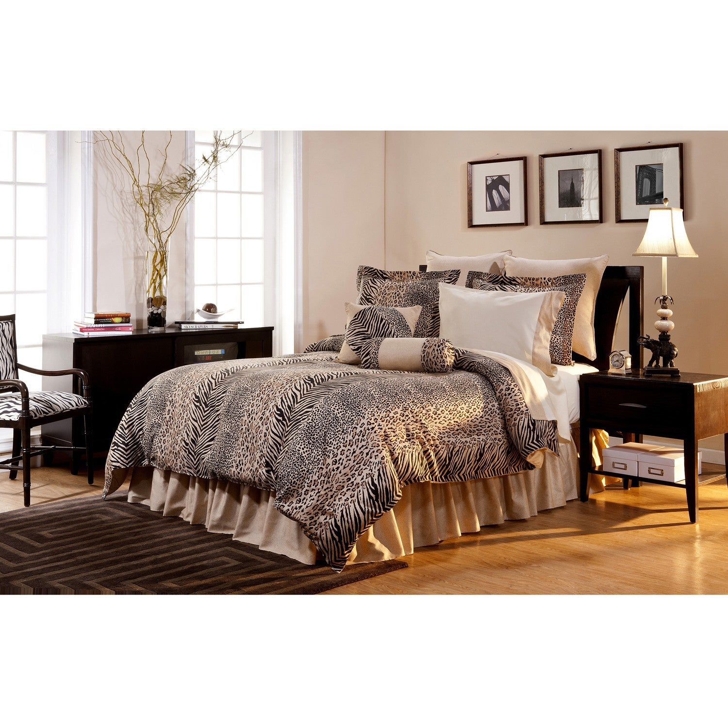 urban safari california king size 8 piece comforter set overstock