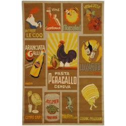 Safavieh Hand-hooked Vintage Poster Mocha Wool Rug (3'9 x 5'9)