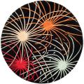 Handmade Soho Fireworks Black New Zealand Wool Rug (6' Round)