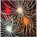 Handmade Soho Fireworks Black New Zealand Wool Rug (6' Square)
