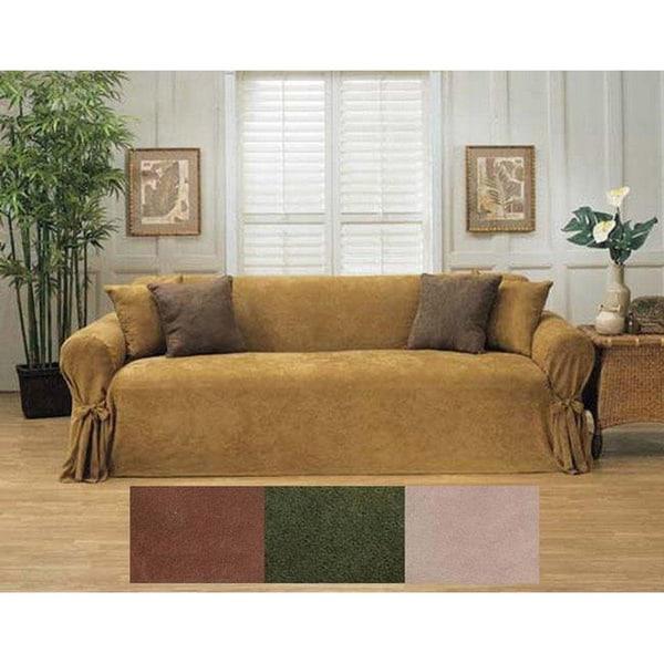 Heavy Microsuede Sofa Slipcover