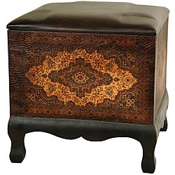 Olde-World Baroque Ottoman/ Stool (China)