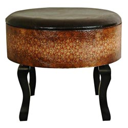 Olde World Vintage Ottoman/ Stool (China)