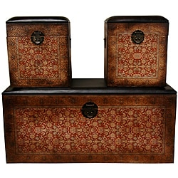 Set of 3 Olde-World European Storage Boxes (China)