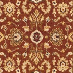 Handmade Majesty Rust/ Beige New Zealand Wool Runner (2'3 x 7'6)