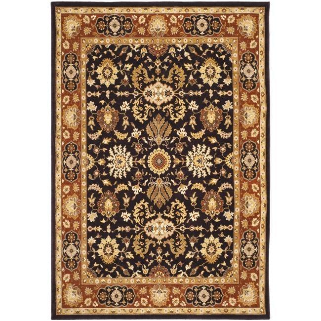 Safavieh Handmade Majesty Charcoal/ Rust New Zealand Wool Rug (8' x 11'2)