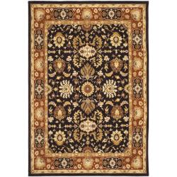 Handmade Majesty Charcoal/ Rust New Zealand Wool Rug (8' x 11'2)