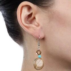 Crystale Created Stone Dangle Earrings