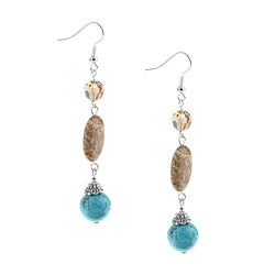 Crystale Created Stone Fashion Dangle Earrings