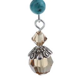 Crystal Created Stone Fashion Dangle Earrings