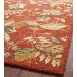 Safavieh Handmade Blossom Botanical Rust Wool Rug (3' x 5')
