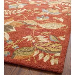 Safavieh Handmade Blossom Botanical Rust Wool Rug (4' x 6')