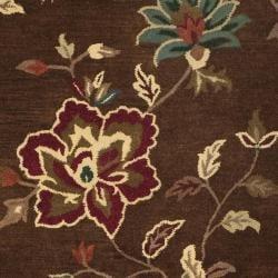 Safavieh Handmade Jardine Gardens Brown Wool Rug (9' x 12')
