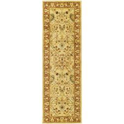 Safavieh Handmade Mahal Ivory/ Rust New Zealand Wool Runner (2'6 x 16')