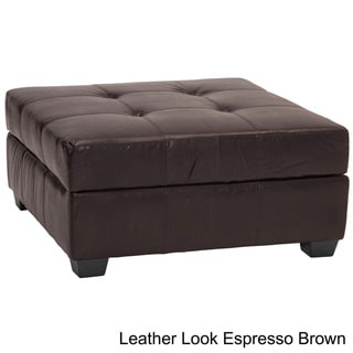 Vanderbilt 36 Inch Square Hinged Storage Bench Ottoman Overstock Shopping Great Deals On